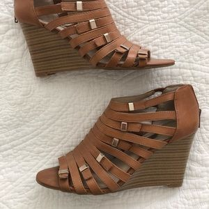 INC strappy wedge sandal